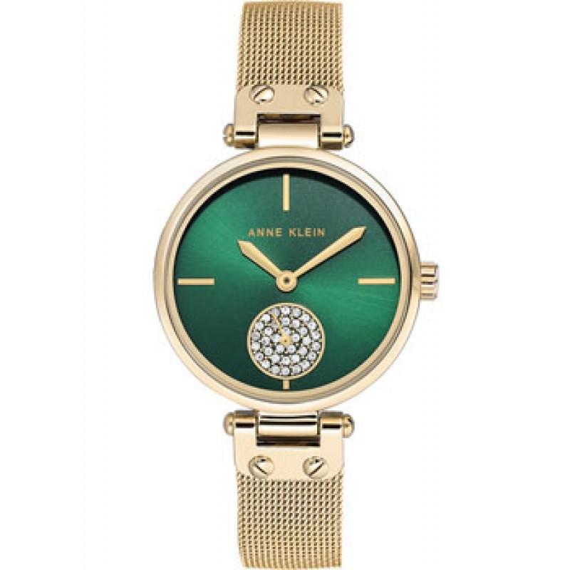 fashion наручные  женские часы Anne Klein 3000GNGB. Коллекция Crystal