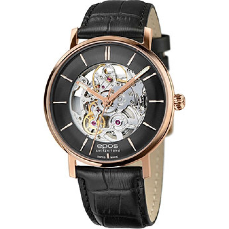Швейцарские наручные  мужские часы Epos 3437.135.24.15.25. Коллекция Originale