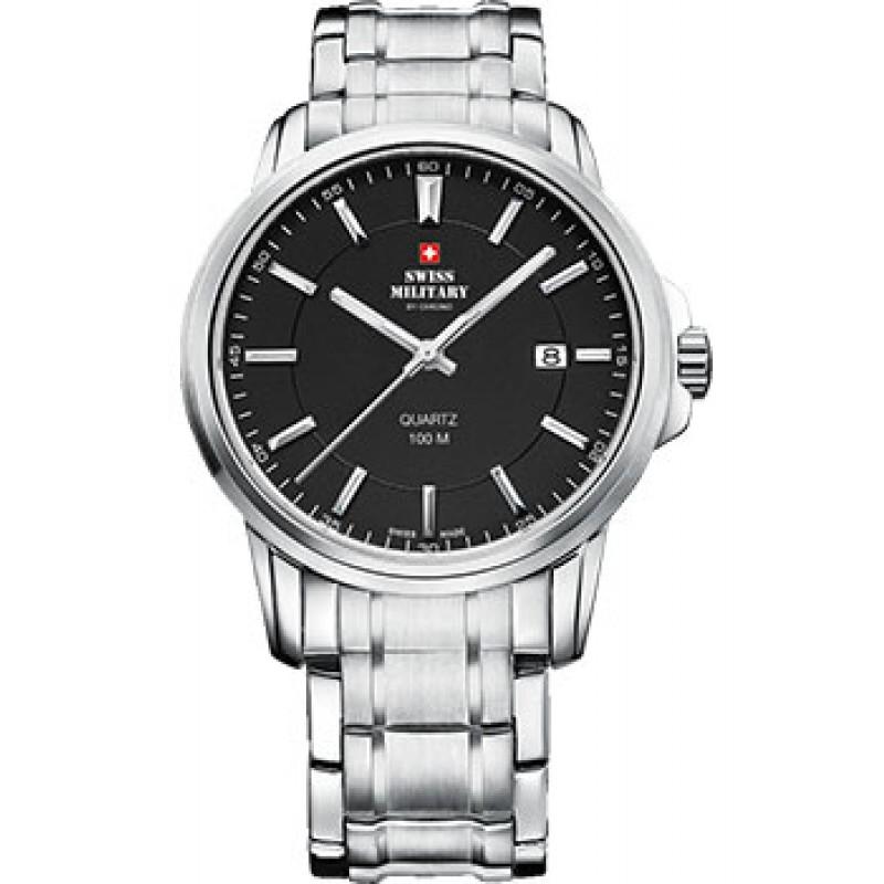 Швейцарские наручные  мужские часы Swiss military SM34039.01. Коллекция Сlassic